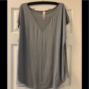 BNWT Large Victoria's Secret tee with lace detail
